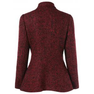 Inclined Zipper Marled Jacket -