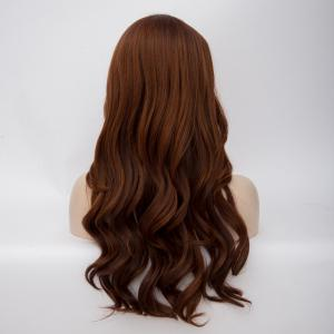 Long Side Parting Wavy Highlight Synthetic Wig - COLORMIX