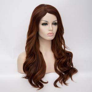 Long Side Parting Wavy Highlight Synthetic Wig -