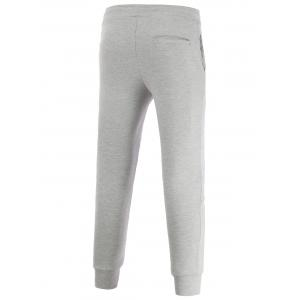 Skinny Drawstring Waist Spliced Jogger Pants -