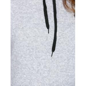 Drawstring Cross Back Hoodie -