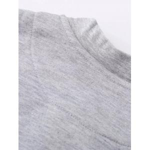 Stand Neck Alien Patched Jacket - LIGHT GRAY XL