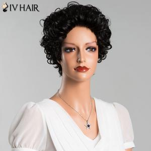 Short Curly Pure Color Human Hair Wig -