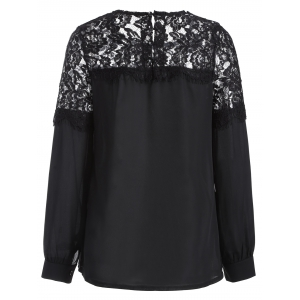 Lacework Splicing Blouse -