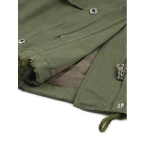 String Loose Utility Coat - ARMY GREEN ONE SIZE