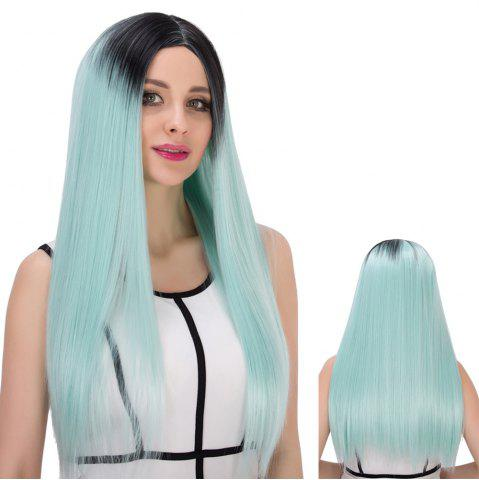 Latest Double Color Long Centre Parting Straight Stunning Cosplay Synthetic Wig