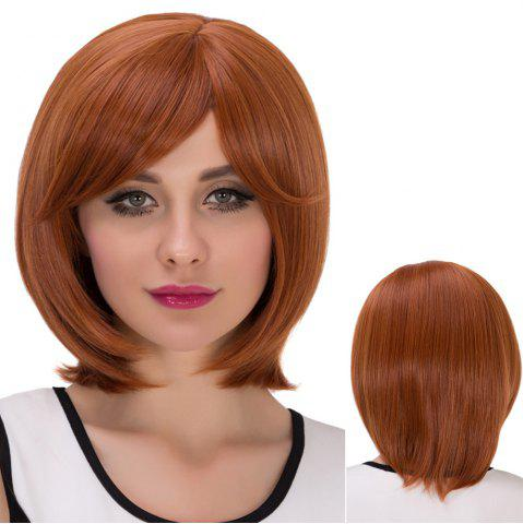 Online Pixie Short Oblique Bang Straight Synthetic Wig
