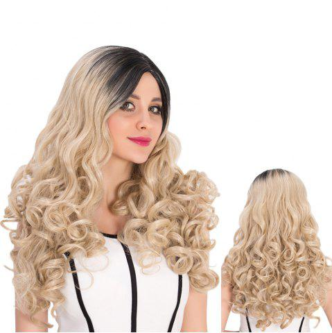 Hot Long Colormix Side Parting Curly Synthetic Wig