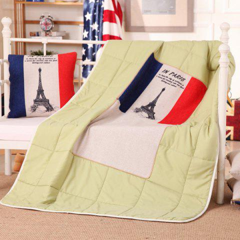 Discount Dual Purpose Couch Cushion Air Conditioning Pillow Blanket COLORMIX