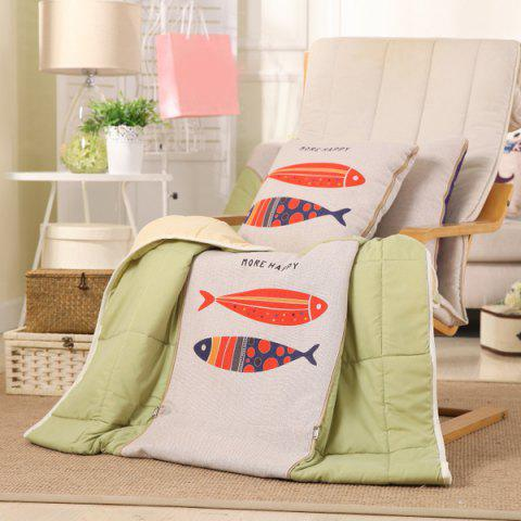 Outfits Dual Use Cartoon Folding Office Couch Cushion Nap Pillow Quilt COLORMIX