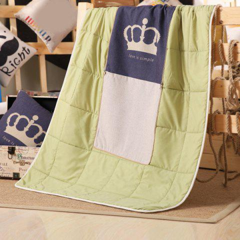 Shops Dual Use Car Sofa Nap Square Crown Pattern Cushion Pillow Blanket