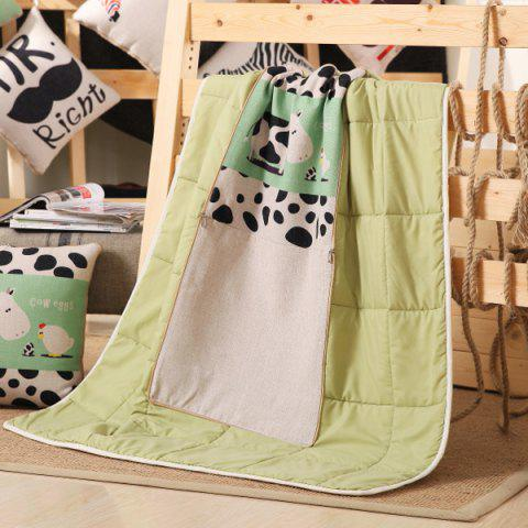 Sale Cartoon Sofa Office Nap Air Condition Two Use Pillow Blanket