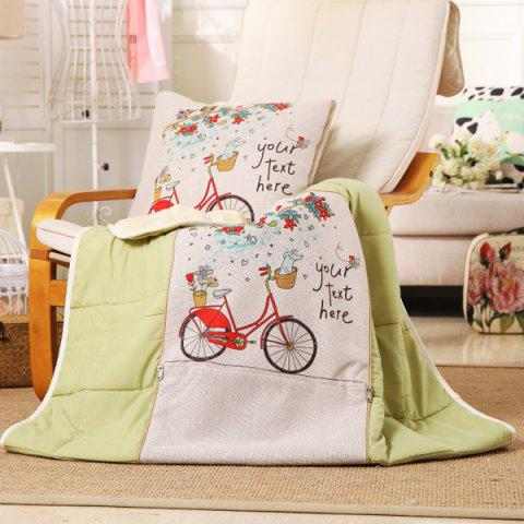 Online Wholesale Two Use Office Nap Cushion Air Condition Pillow Blanket