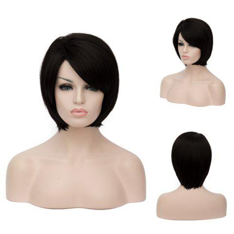 Best Prevailing Short Side Bang Straight Synthetic Wig