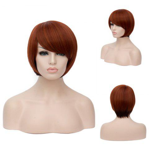 Shops Prevailing Short Side Bang Straight Mixed Color Synthetic Wig COLORMIX