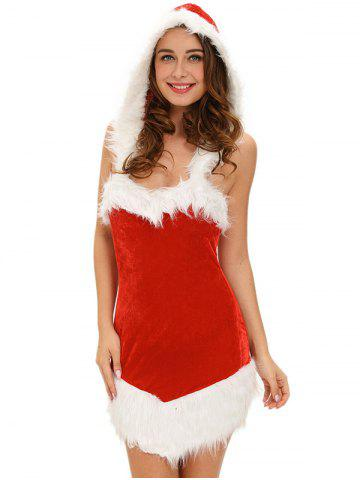 Outfit Christmas Cut Out Velvet Dress