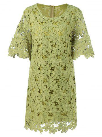 Discount Lace Floral Overlay Dress