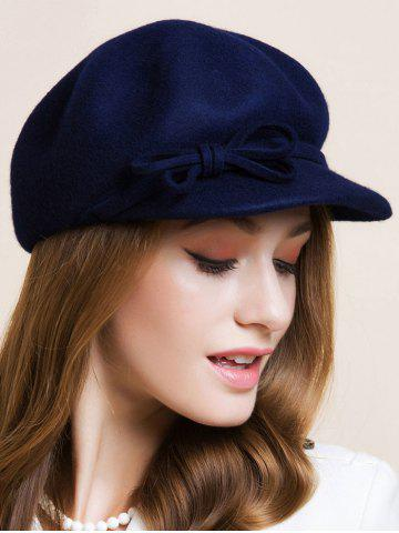Best Double Bowknot Lace-Up Embellished Newsboy Hat