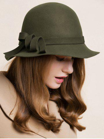 Trendy Curved Band Embellished Cloche Hat