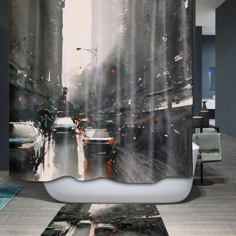 Outfits Bath Decor City Printed Waterproof Polyester Shower Curtain