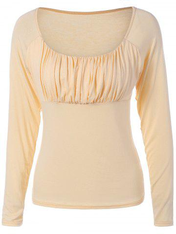 Best Elegant Sweetheart Collar Solid Color Long Sleeve Pullover T-Shirt For Women