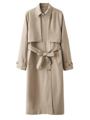 Best Button Up Belted Longline Trench Coat