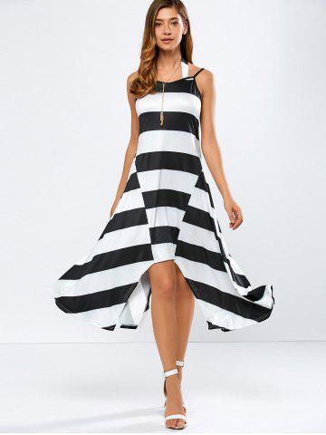 New Casual Striped Midi Tank Summer Dress