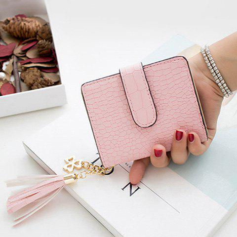 Trendy Tassels Click Crocodile Wallet - PINK  Mobile