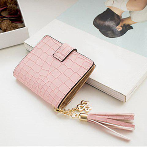 Buy Tassels Click Crocodile Wallet - PINK  Mobile
