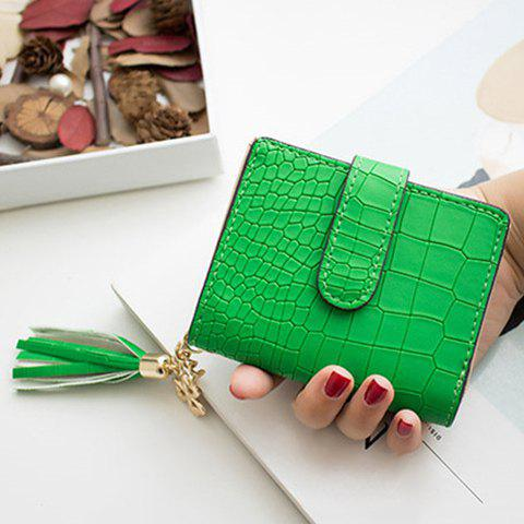 Tassels Click Crocodile Wallet - Green - 40