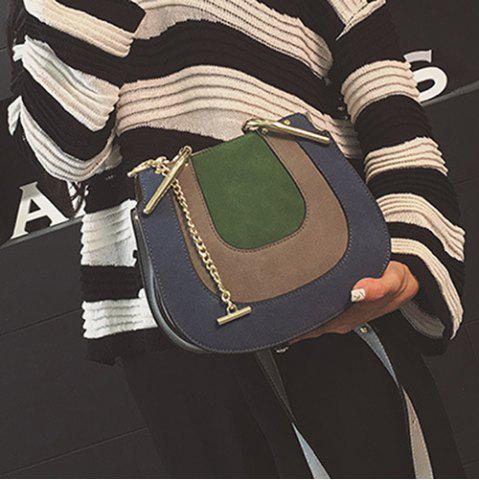 Outfit Metallic Chains Color Block Crossbody Bag