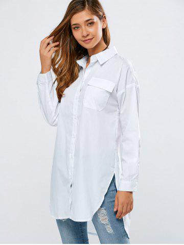Shops BF Style Long Loose High-Low Shirt