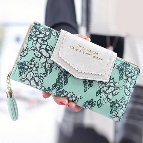 Sale Flower Print Tassels Clutch Wallet