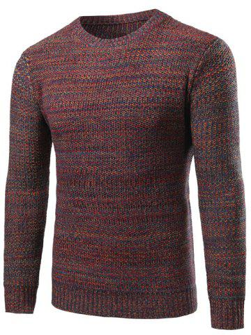 Fashion Crew Neck Knit Blends Sweater