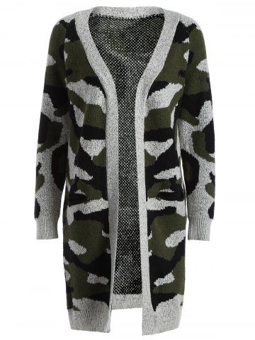 Outfit Camo Long Knitted Cardigan