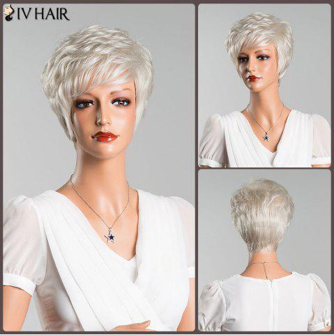 Store Layered Inclined Bang Short Straight Human Hair Wig