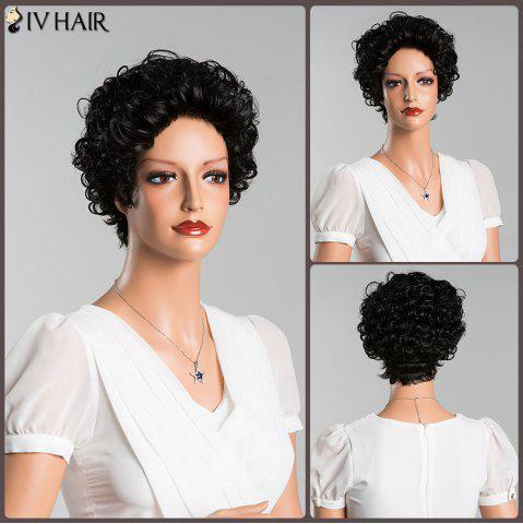 Outfits Short Curly Pure Color Human Hair Wig
