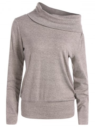 Buy High Neck Long Sleeve Sweatshirt