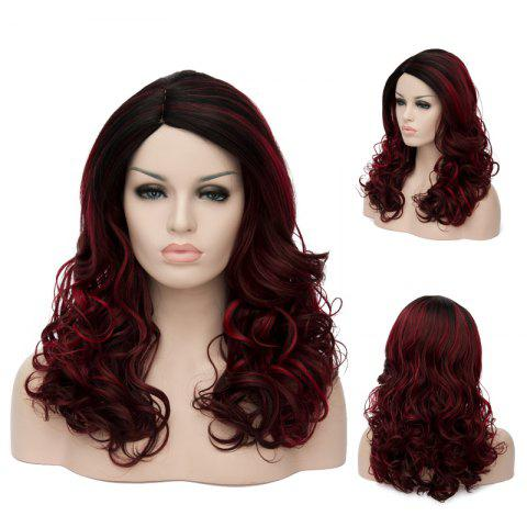 Latest Long Highlight Wavy Side Parting Synthetic Wig
