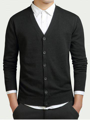 Fancy Slimming V-Neck Single Breasted Cardigan