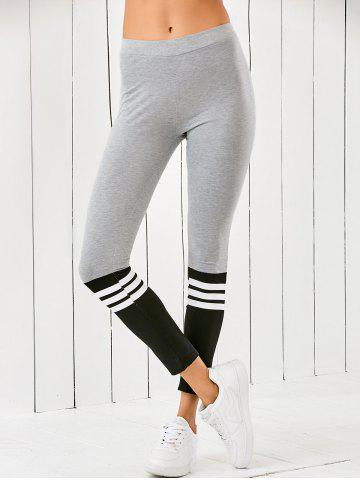 Affordable Striped Color Block Leggings