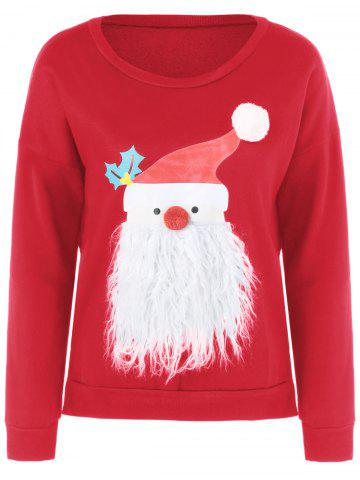Christmas Sweater Fuzzy Rouge L