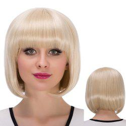 Short Neat Bang Bob Straight Synthetic Wig