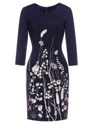 Blossom Embroidered Sheath Dress