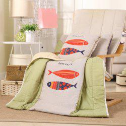 Dual Use Cartoon Folding Office Couch Cushion Nap Pillow Quilt