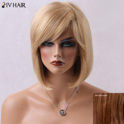 Outstanding Short Straight Side Bang Bob Haircut Siv Human Hair Wig