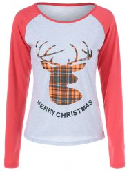 Merry Christmas Fawn Print T Shirt