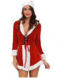Christmas Cosplay Velvet Dress -