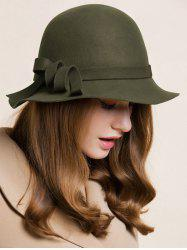 Curved Band Embellished Cloche Hat -