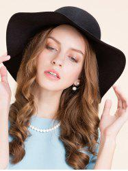 Casual Leaf Pendant Rope Floppy Hat